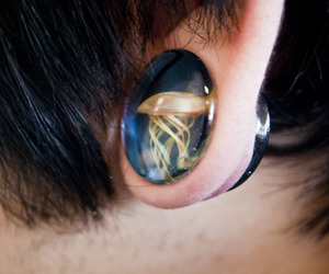 Plugs, boy, and ear image