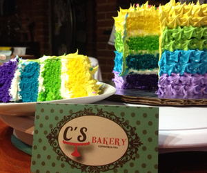 arcoiris, colores, and cake image
