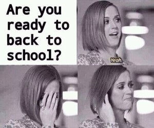 school, funny, and ready image