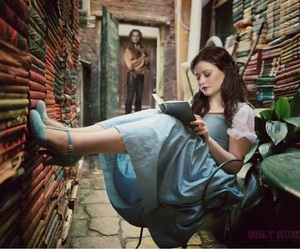 once upon a time, bella, and rumbelle image