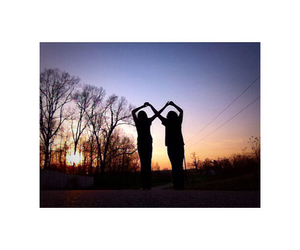 best friends, infinity, and sunset image