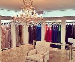 dress, luxury, and closet image