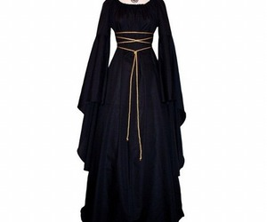 black, dress, and medieval image