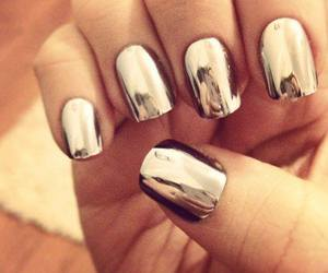 nails, girl, and metallic image