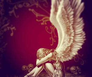 fallen angel, rosso, and lacrime image