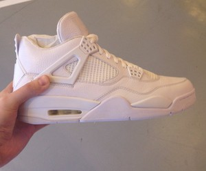 shoes, white, and jordan image