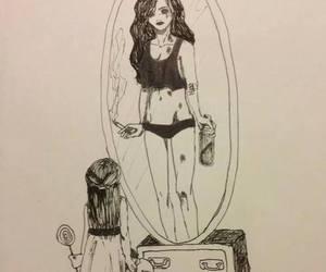 sad and mirror image