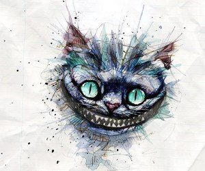cat, art, and smile image