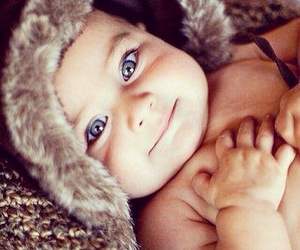 blue eyes, baby, and beautiful image