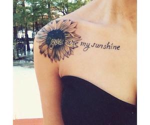 tattoo, sunshine, and flower image