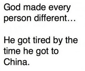 china, funny, and god image