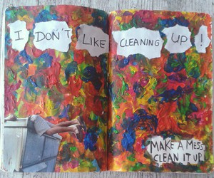book, cleaning, and colors image