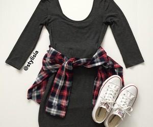 converse, dress, and fashion image