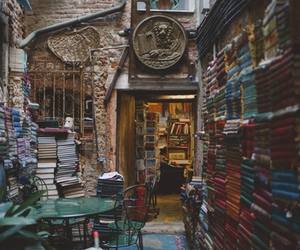 books, library, and venice image