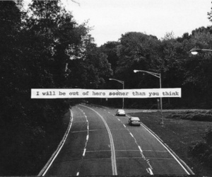 quote, black and white, and car image