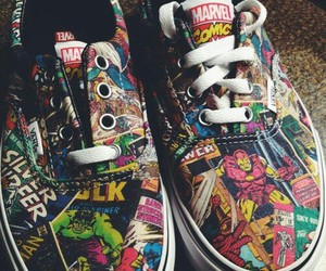 Marvel, vans, and comic image