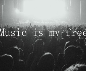 music, freedom, and black and white image