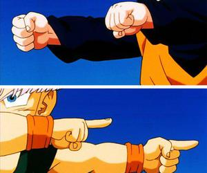 trunks, goten, and anime image
