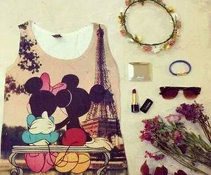 fashion, france, and mickey mouse image