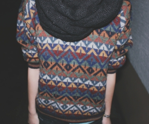 dark, girl, and scarf image