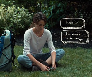 hello, text message, and hazel grace image