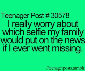 teenager post, funny, and selfie image