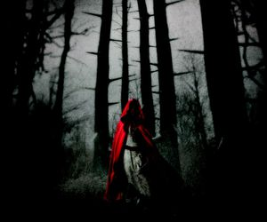 dark, red, and red riding hood image