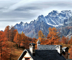 autumn and mountains image
