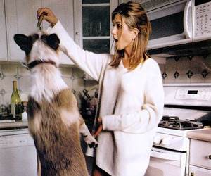 dog and Jennifer Aniston image