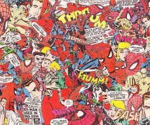 spiderman, comic, and Collage image
