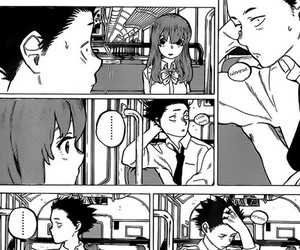 koe no katachi, manga, and couple image