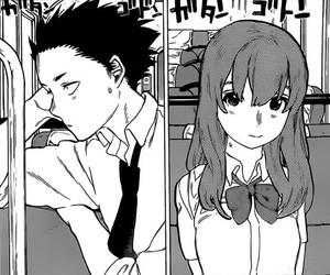 black and white, couple, and kawaii image