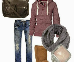 winter style, cute fashion, and winter fall image