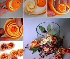 diy, orange, and flowers image