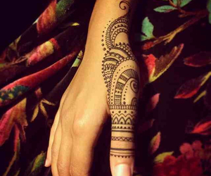 art, henna, and henna tattoo image