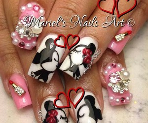 bling, couple, and mickey mouse image