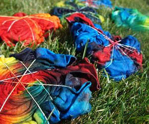 tie dye, colorful, and cool image