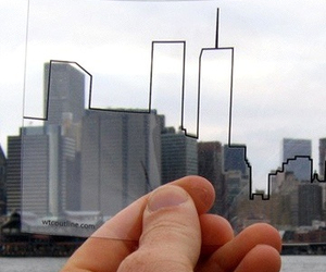 city, twin towers, and new york image