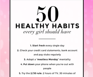girl, habits, and healthy image