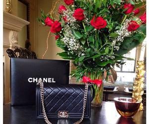 bag, black, and roses image