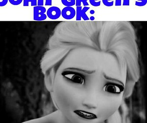 books, frozen, and john green image