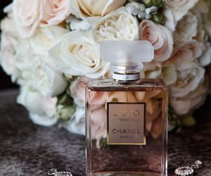 perfume, chanel, and roses image