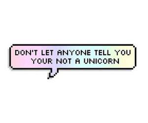 unicorn, rainbow, and quotes image