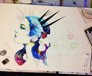 color, draw, and girls image