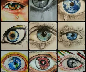 colors, draw, and eyes image