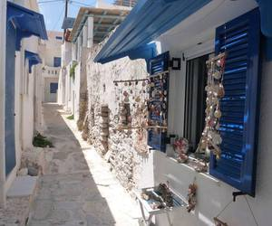 blue, Greece, and summer image