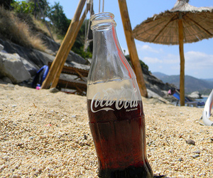 coca cola, beach, and coke image