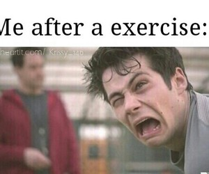 funny, exercise, and teen wolf image