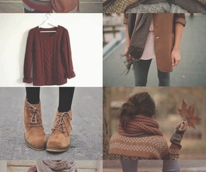 autumn colors, brown, and boots image