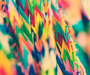 origami, color, and colors image